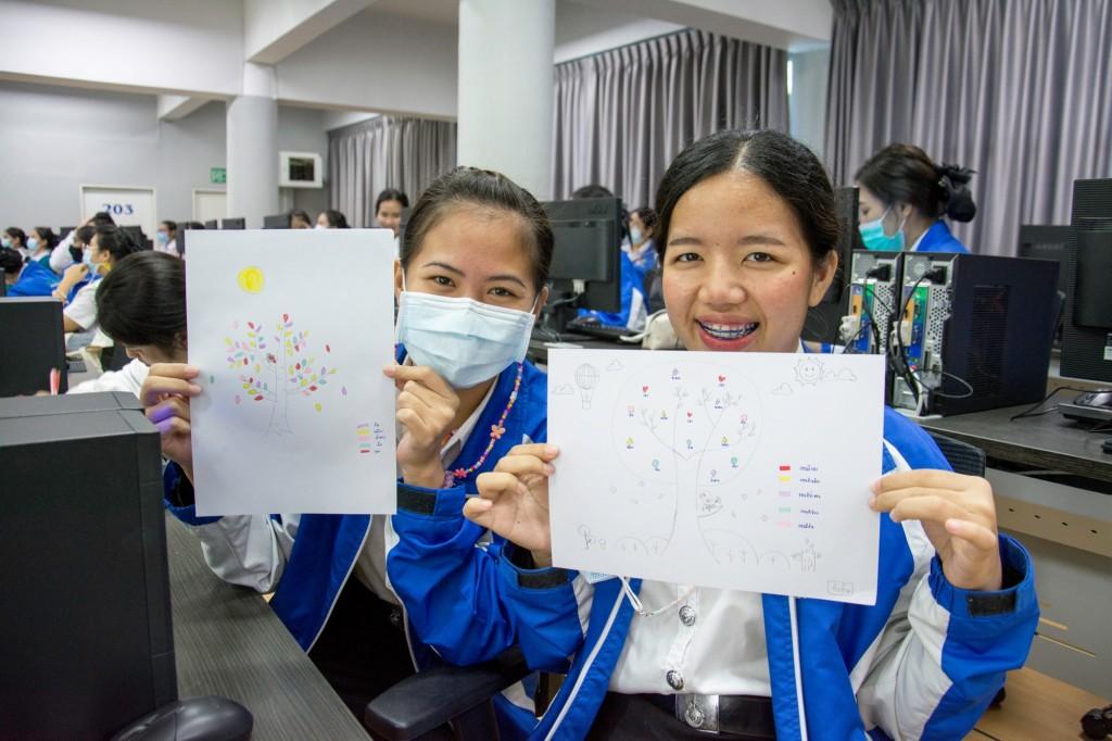 ผลงานการออกแบบและภาพบรรยากาศโครงการอบรมอินโฟกราฟฟิกของนักศึกษาคณะพยาบาลศาสตร์ มทร.ธัญบุรี วันที่ 16-18 พฤศจิกายน 2563